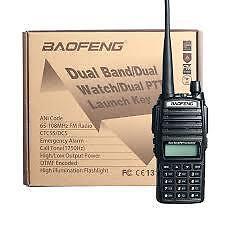 Baofeng UV-82 HP 8W Dual Band VHF/UHF Two Way Radio (Black)