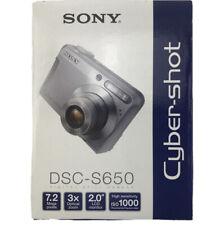Sony Cyber-Shot DSC-5650 7.2 MP Digital Camera Still Photography Silver NOB