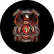 True Heroes Fire/Police (911) Jeep Wrangler Liberty RV Trailer Spare Tire Cover