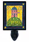 Patriotic Decorative Photo Night Light, America, USA, United States Flag