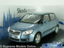 SKODA FABIA MODEL CAR 1:43 SCALE ABREX SATIN GREY METALLIC (BLUE) 4DR HATCH K8