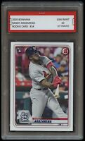 RANDY AROZARENA 2020 / '20 BOWMAN #24 (Topps) 1ST GRADED 10 ROOKIE CARD RC RAYS