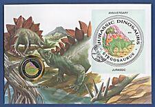 Maxi Numisbrief Jurassic Dinosaurus Farbmed. Stegosaurus Stempel 1993 NBA7/63