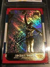 MICHAEL JORDAN 1998 Fleer '86 ROOKIE Prism Hologram Refractor Rookie Signature