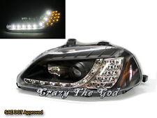 Civic 1996-1998 DX LX EX SI Projector DRL LED R8 w/LED Headlight Black HONDA