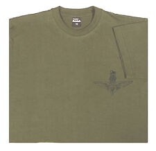 Army Style Military T Shirt Para Vintage 100% Cotton Green Large
