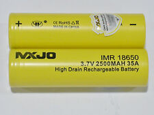 2 MXJO IMR 18650 Li-MN BATTERY HIGH DRAIN RECHARGEABLE 3.7v 2500mAh 35A