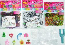 LOOM BRACELET MAKING KIT + PEARL B & W RASTA COLOURS 900 BANDS CHARMS S-CLIPS