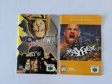 WCW vs nWo World Tour & Mayhem Nintendo N64 Instruction Booklets Manuals