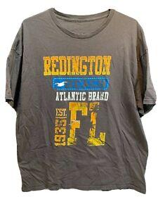 Redington Beach Atlantic Brand Est 1935 Florida T-Shirt Size 2XL