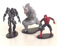 Disney Store Spider-Man estatuilla Cake Topper Juguete Marvel Spiderman Conjunto de 3