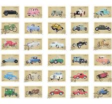 Lots 30pcs Retro Vintage Old Car Automobile Postcard Irregular Stamp Style Card