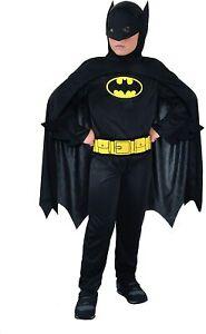 Batman Dark Knight Costume Bambino 3-4 anni Originale Feste party