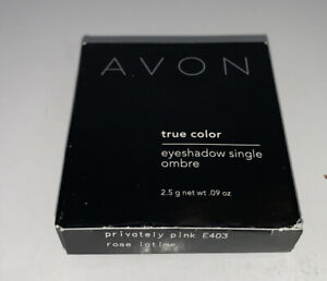 Avon True Color Eyeshadow Single Ombré In Privately Pink New In Box Discontinued