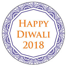 Personalised HAPPY DIWALI Decoration Labels Party Stickers Sweet Bags Seals 1013