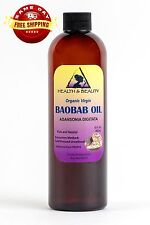 BAOBAB OIL UNREFINED ORGANIC by H&B Oils Center VIRGIN COLD PRESSED PURE 36 OZ