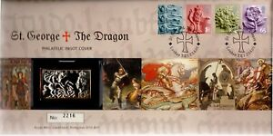 GB 2001 COVER ST GEORGE AND THE DRAGON WITH SILVER INGOT