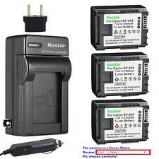 Kastar Battery AC Charger for Canon BP-808 CG800 Canon VIXIA HF M301 Camcorder