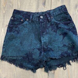 Levi's 501 Tie Dye Redone Urban Renewal Shorts Size 27W