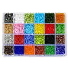 BALABEAD 24000pcs in Box 24 Multicolor Assortment 12/0 Glass Seed Beads 2mm Seed