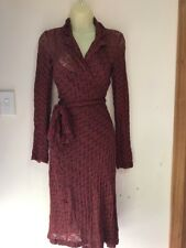 Stunning Review Stretch Wrap dress With Slip 8 Worn Once Brown & Red