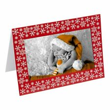 More details for 6 blank christmas photo frame craft cards personalise your own 6 x 4 inch
