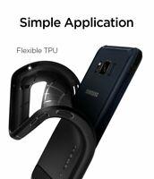 Samsung Galaxy S8 Active Case Rugged Armor Cover Slim Bumper Carbon Fiber Black