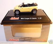 MICRO METAL DIE CAST SCHUCO HO 1/87 MINI COOPER S CABRIOLET JAUNE IN BOX