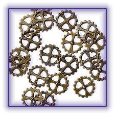Zahnräder Zahnrad 15 Stück Steampunk Gothic basteln Bronze-Farben Neu