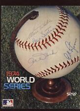 1974 Worlds Series Program 5 Autographs B & E Holo
