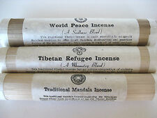 tibetan incense X 3 BAMBOO TUBE = world refugee mandala