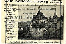 Café Ketterer Triberg pasticceria e pensione storica la pubblicità di 1905