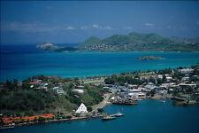 695052 Coastline Castries St Lucia A4 Photo Print