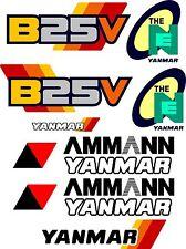 Yanmar B25V bagger-aufkleber-satz