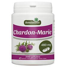 Chardon-Marie 200 gélules dosées à 480 mg