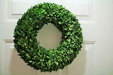 Christmas decor wreath Preserved Boxwood Wreath Round all sizes