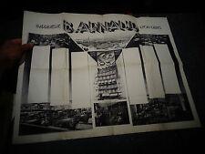 Ancienne Affiche 1934 Imprimerie B Arnaud Lyon Villeurbanne Paris Av de l'Opéra