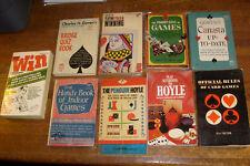 VINTAGE PAPERBACKS: 9 on GAMBLING, CARDS, GAMES, HOYLE, POKER, BRIDGE, CANASTA