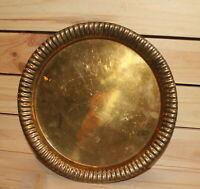 Vintage round brass platter dish