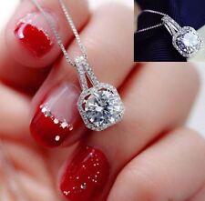 Collar para Mujer moda Cristal encanto colgante gargantilla regalo de lujo Plata