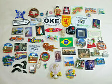 Lot of 50? Refrigerator Magnets Travel Europe / US Souvenir Magnets Novelty