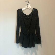 New ListingFigure Skating Black long-sleeve sparkle dress