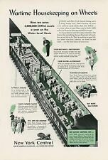 1943 New York Central Railroad Ad 3,000,000 More Meals Served During War WWII