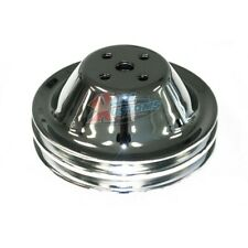 Small Block Chevy Water Pump Pulley 2 Groove Sbc Swp Short Pump
