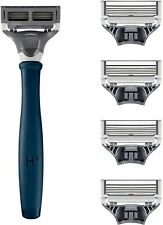 Harry's Men's Razor Set 5 Razor Blade Refills, Travel Blade Cover, 2oz Shave Gel