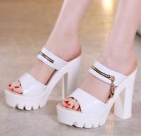 Women High Wedge Slippers Summer Ladies Platform High Heels Sandals Peep Toe SG