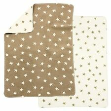 Alvi Baumwolldecke Kuscheldecke Babydecke Schmusedecke 75x100 Sterne beige NEU