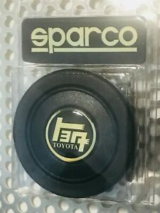 TEQ Toyota Black & Gold Oldschool Sparcoトヨタ Horn Button may fit other wheels