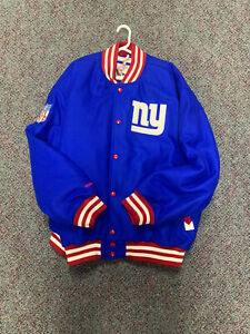 New Mitchell Ness Authentic varsity Jacket New York Giants Blue Size 3XL VTG