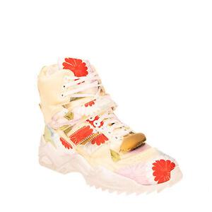RRP €1365 MAISON MARGIELA Satin Sneaker RIGHT SHOE ONLY EU 44 UK 10 US 11 Floral